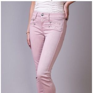 Blush Pink colored skinny jeans for forever 21